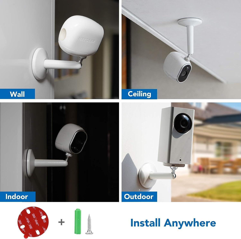 White KIWI design Wall Mount for Blink XT XT2 Mini Adjustable Security Wall Mount Aluminium Alloy Indoor//Outdoor Mount for Blink XT XT2 Mini Home Security Camera 1 Pack