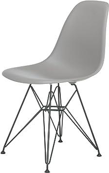 Vitra Charles Eames Stuhl Plastic Side Chair DSR Mauve grau