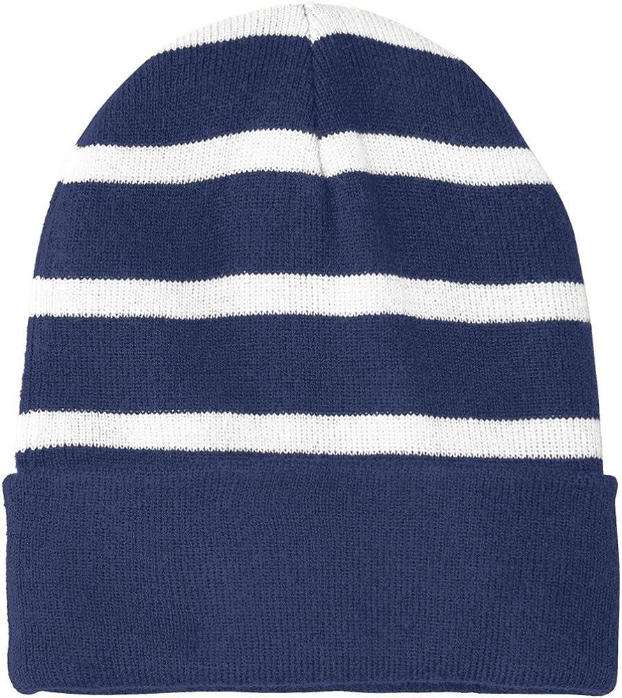 Joes USA Fleece Lined Stripe Beanies in 16 Colors