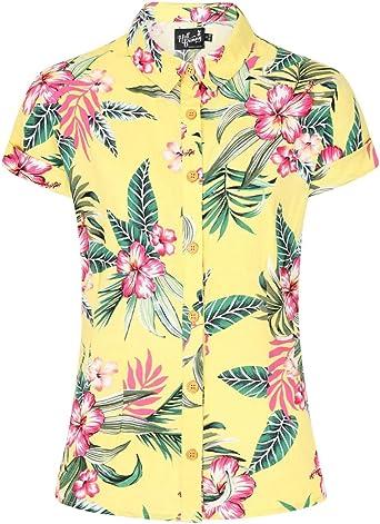 Hell Bunny Kalani Hawaii Camisa Top Pinup Vintage Retro XS-4XL: Amazon.es: Ropa y accesorios