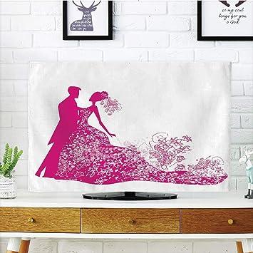 VAMIX - Funda para televisor LCD, diseño de Corazones en latas ...