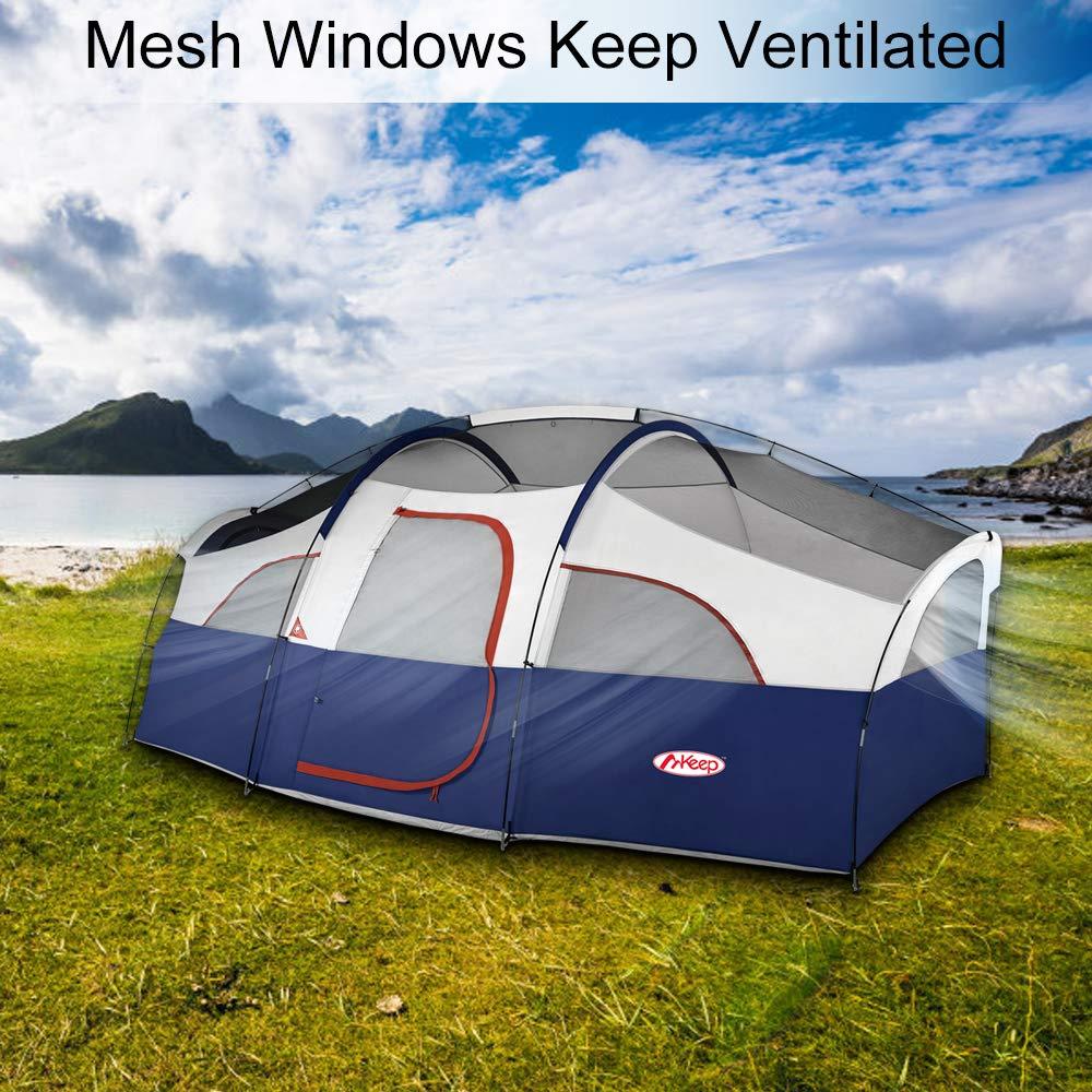 TOMOUNT 8 Person Tent - Professional Waterproof ...