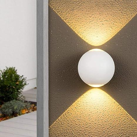 6 W Up Down Extérieur Étanche Mur Lumière En Aluminium Allée