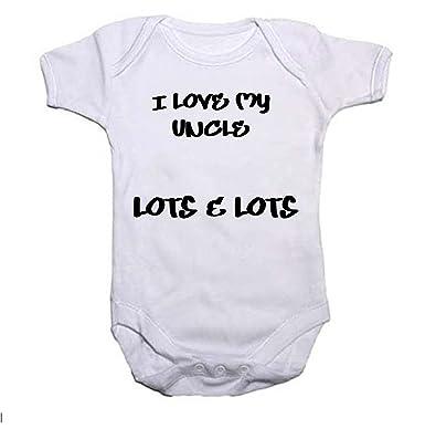 I Love My Uncle Boys Girls Baby Grow Vest Baby Shower Gift Amazon