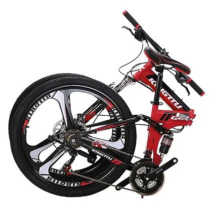 Kingttu Bicicleta de montaña EURG6 de 26 Pulgadas, con 3 ...