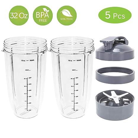 Amazon.com: Tazas de repuesto Nutribullet, kit de ...