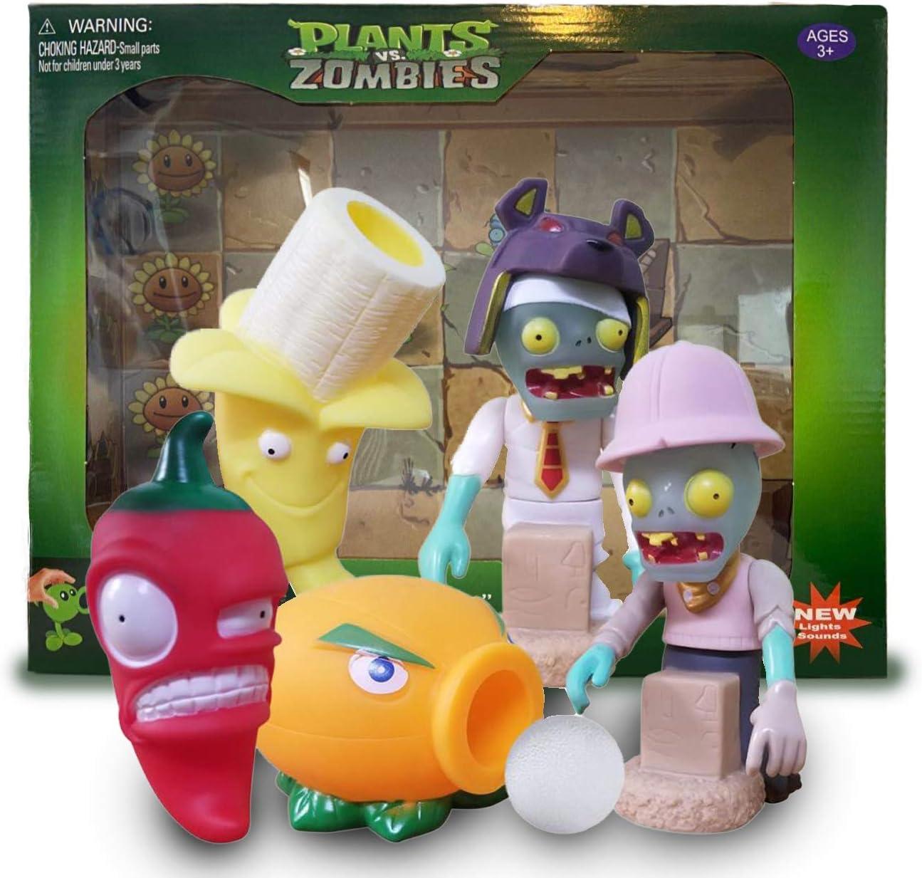10 PCS//Plants VS Zombies  Action Figure banana Topper Kids Gift Toys