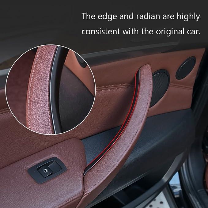 Jaronx C/ôt/é Pessenger Accoudoir de porte arri/ère droit avant droit Poign/ée de porte pour BMW X5 X6 Couvercle de porte int/érieure