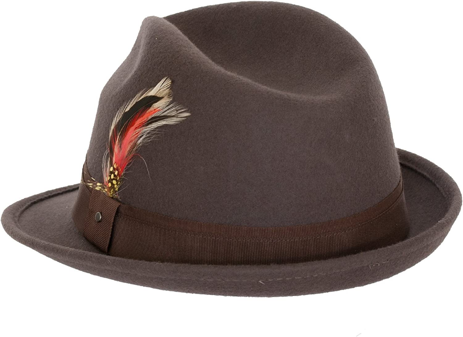 6+ Colors 9th Street Mens 100/% Wool Verve Trilby Fedora Hat