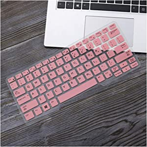 12.5'' Laptop Keyboard Cover Skin for Dell Latitude Latitude 7290 7280 7380 7390 E7370 13.3 E7250 E5250 E7270 E5270 E7389 E5270,Pink