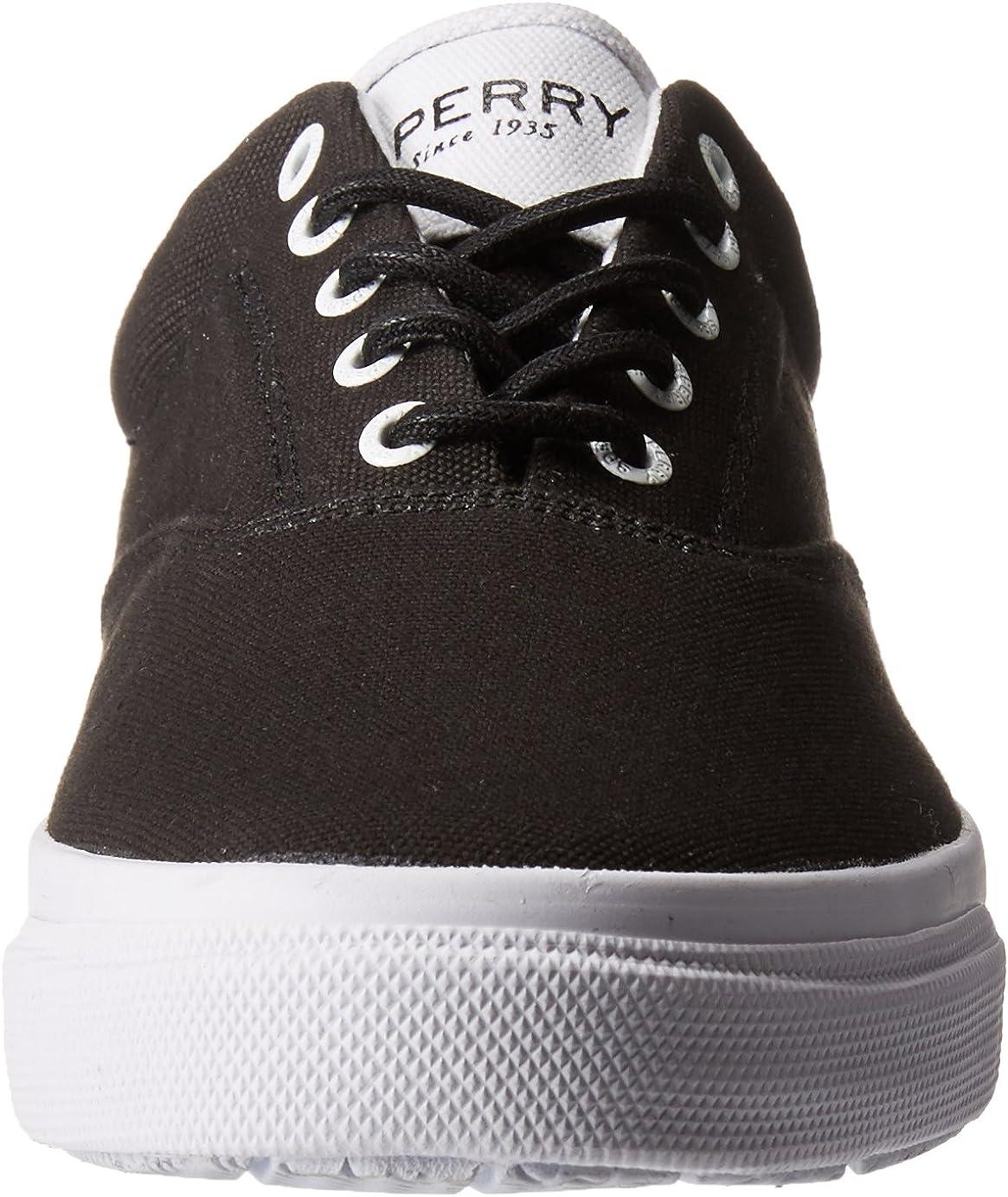 Sperry Men's Salt Washed Striper LL CVO Boat Shoe Black/White