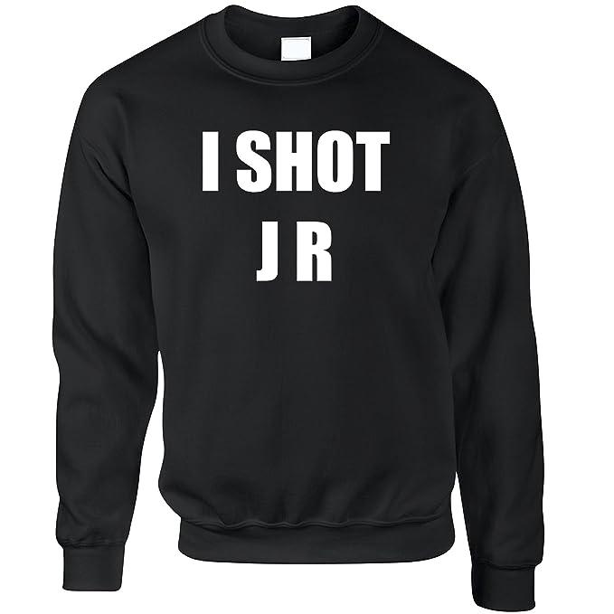 6300d76ed Amazon.com: TV Parody Sweatshirt I Shot J R Ewing Slogan: Clothing