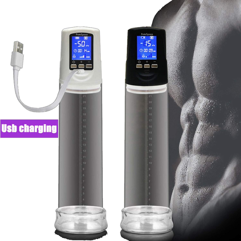 EEELH SHIRT Men Masturbating Male USB Rechargeable Male C-ock P-ump LED Automatic Male D-ick E-nhancement Superior M-assage Care,Black