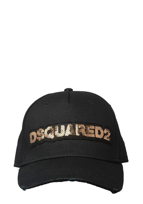 4caf0f9d2 DSQUARED2 - BCM0119 Sequin Logo Baseball Cap in Black: Amazon.co.uk ...