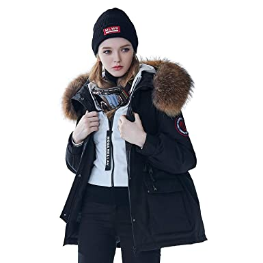 a02d6cf6f Amazon.com: BOSIDENG Women's 2018 New Winter Goose Down Jacket Big ...