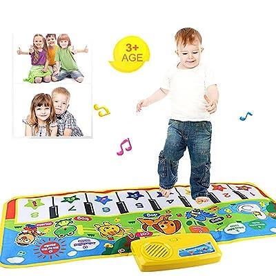 2019 nueva Touch juego Keyboard Musical Música Cantando Gimnasio Alfombra Mat, mmtop mejor niños bebé regalo: Juguetes y juegos