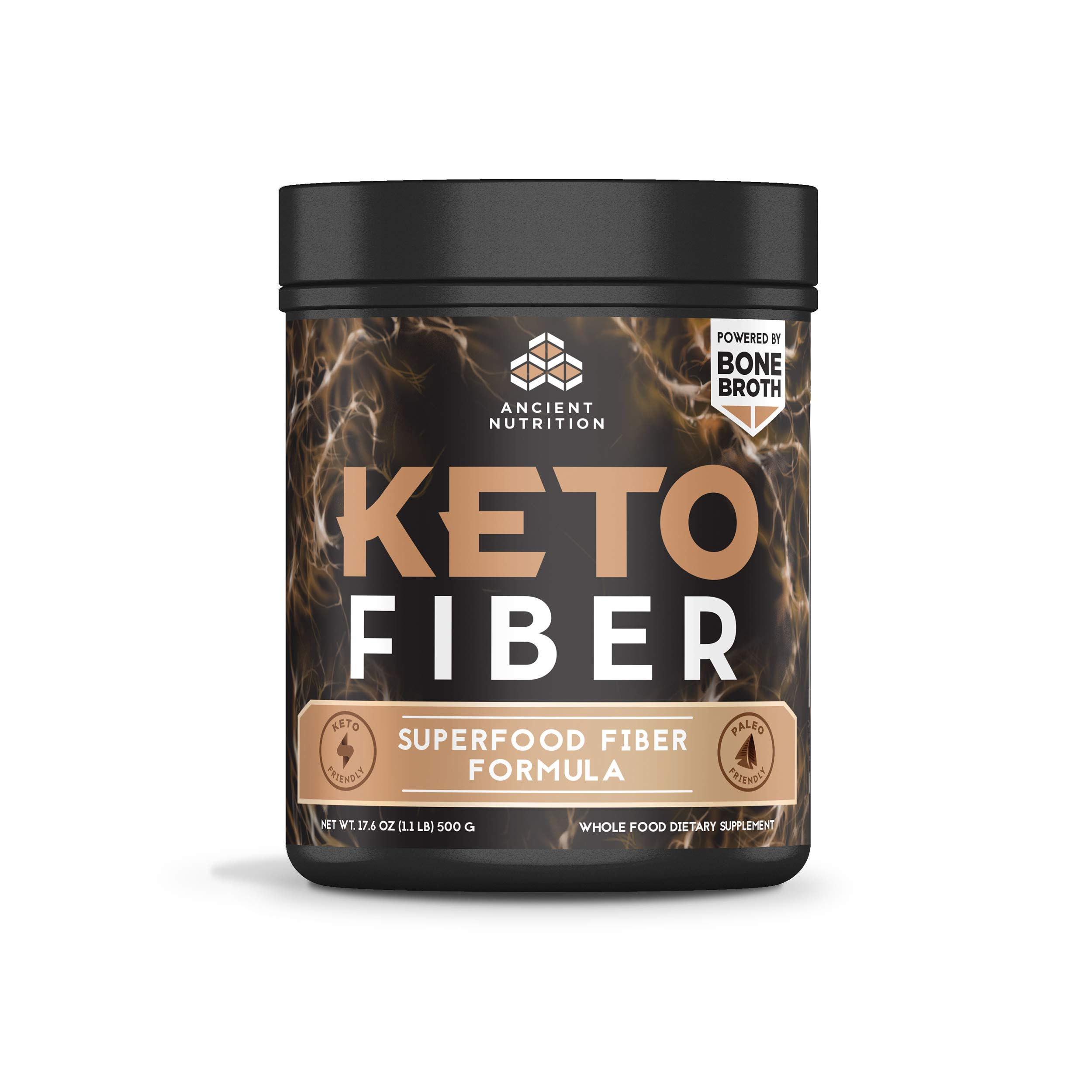 Ancient Nutrition KetoFIBER Powder, 17 Servings - Keto Diet Supplement, Low-Carb High-Fiber Superfood Plant Based Blend by Ancient Nutrition