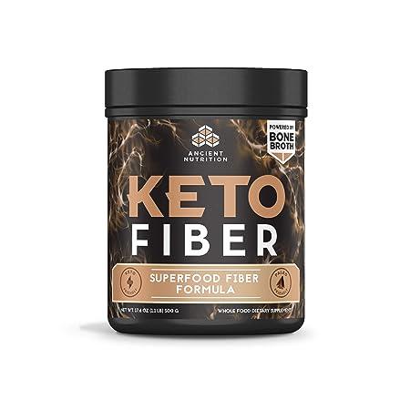 Ancient Nutrition KetoFIBER Powder, 17 Servings – Keto Diet Supplement, Low-Carb High-Fiber Superfood Plant Based Blend
