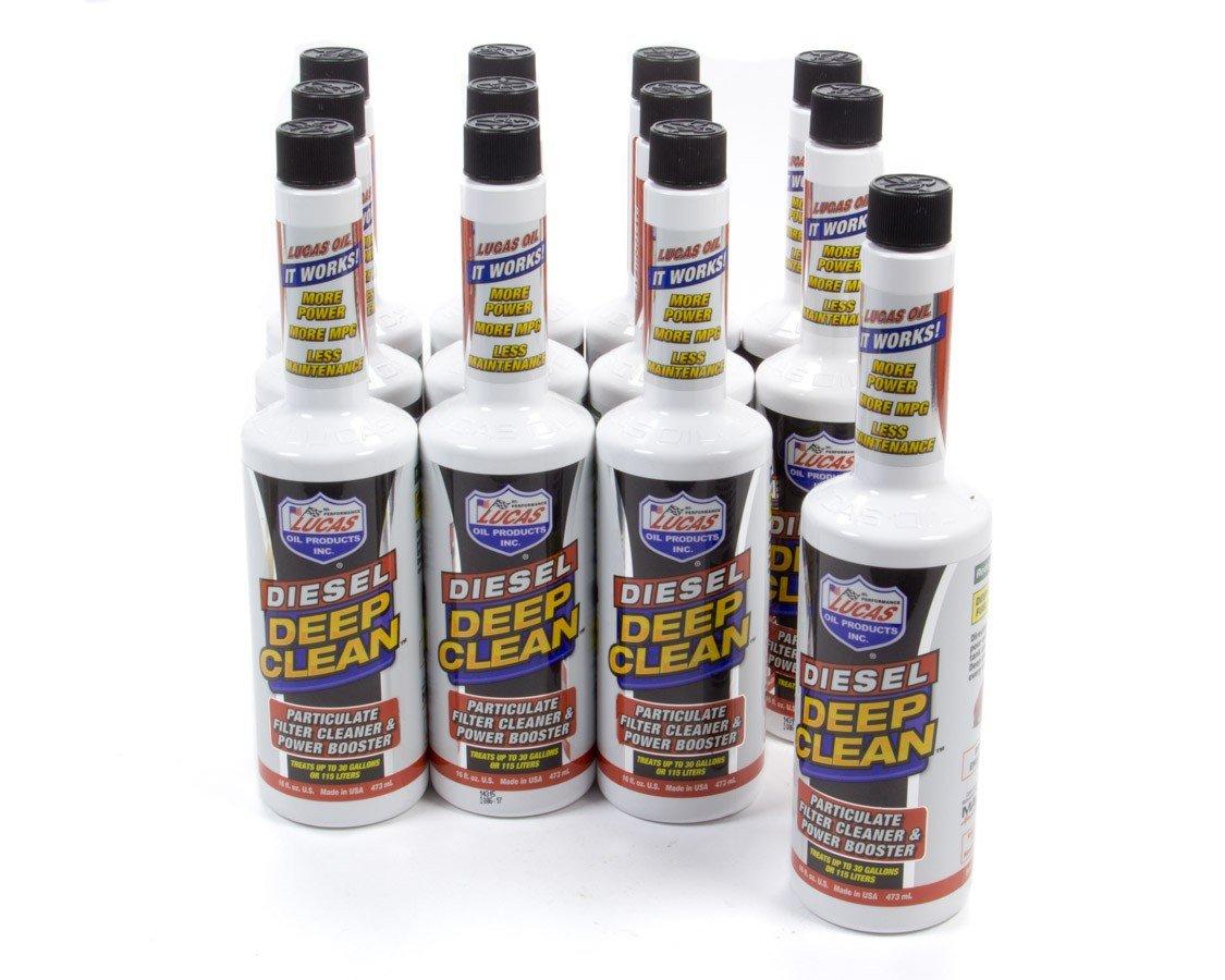 Lucas Oil 10872-12 1 Pack Diesel Deep Clean Fuel Additive Case (12x16oz.) by Lucas Oil