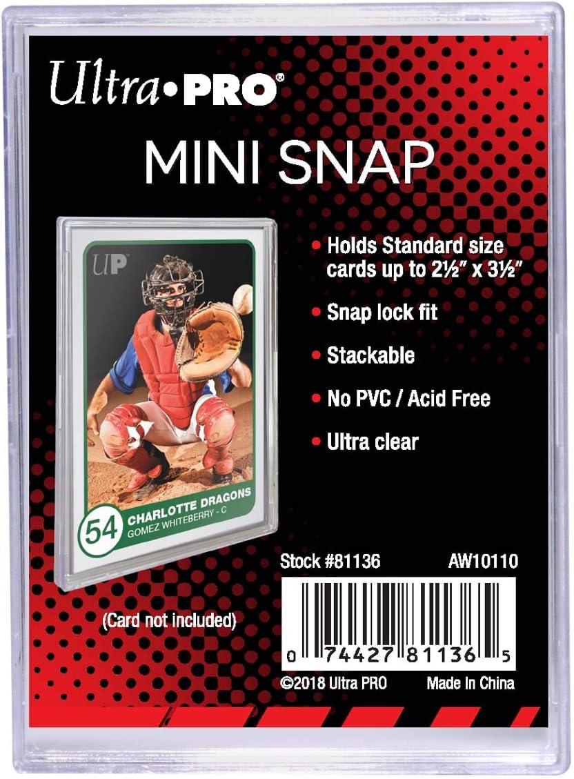 Bundle of 100 Mini Snaps Ultra Pro Mini Snap Card Holder #81136