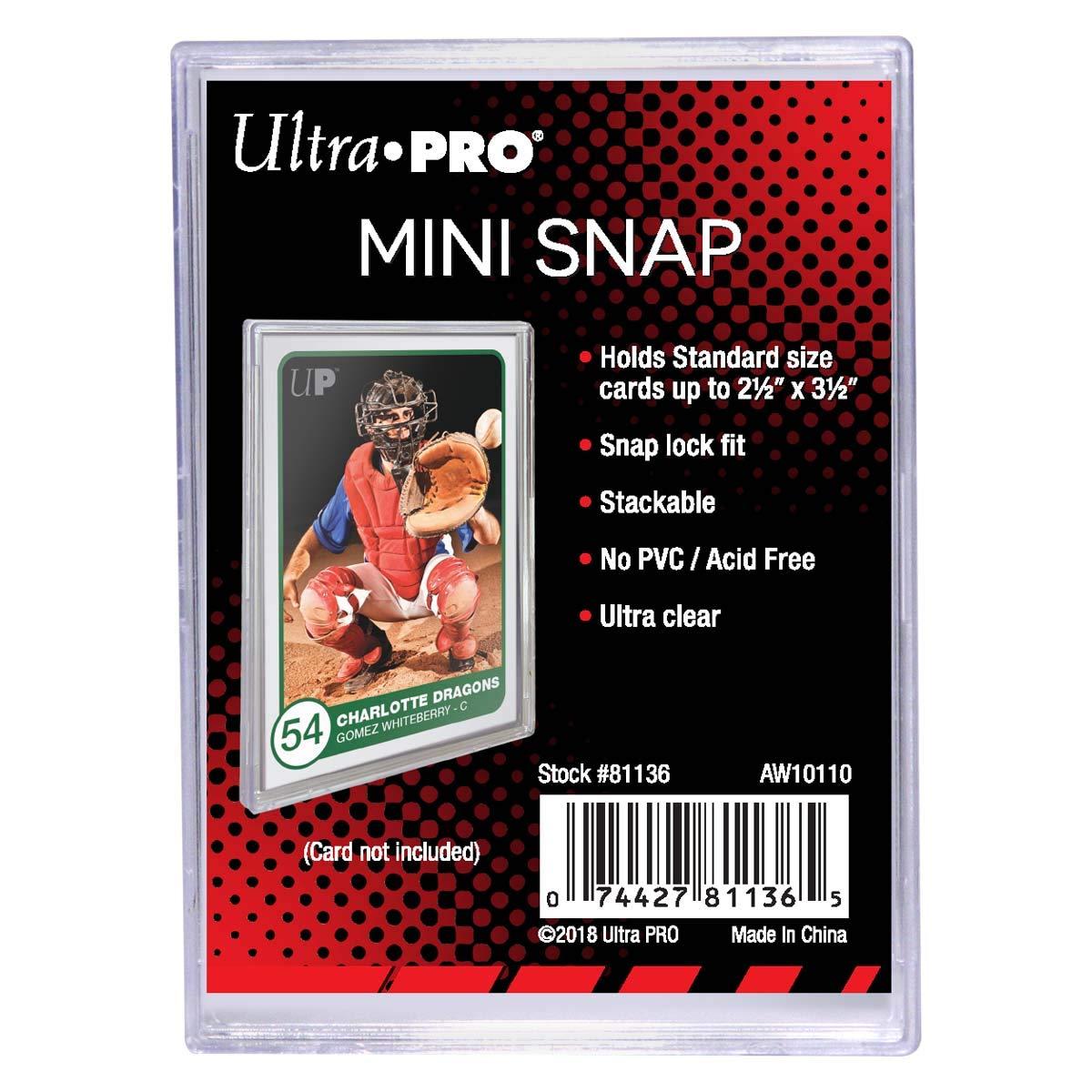 Bundle of 50 Mini Snaps Ultra Pro Mini Snap Card Holder #81136