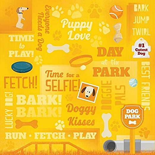 Karen Foster Scrapbooking Paper Coll 25 Sheets 12 x 12-Inches Puppy Love Collage