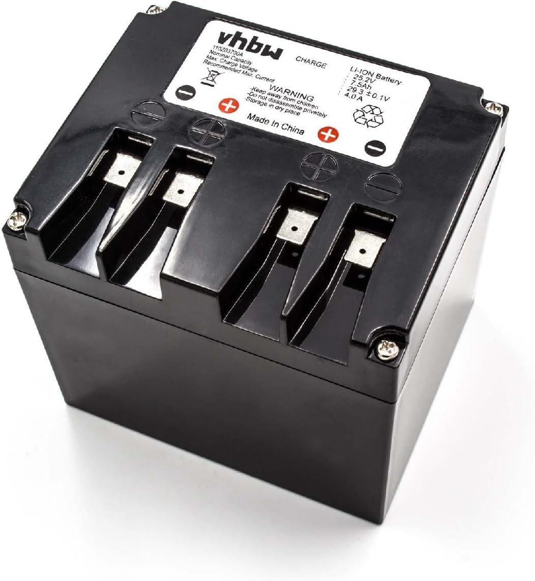 vhbw Li-Ion batería 7500mAh (25.2V) para cortacésped Robot cortacésped Stiga autoclip 525 S, 527, 527 S, 720 S, 920 S