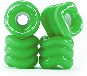 Shark Wheel California Rolls Skateboard Wheels 60mm, 78a - Green