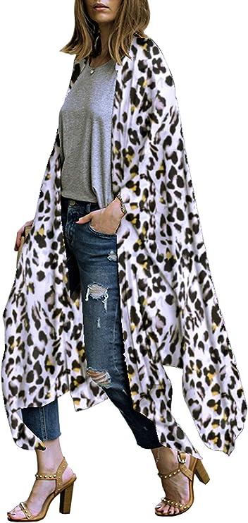 Sairain CáRdigans para Mujer,CáRdigan De Kimono Floral De Gasa De Tul para Mujer Camisa Larga Chaqueta Suelta,CáRdigan De Punt Cierre Cardigans Mujer Larga Jersey De Punto Larga Manga: Amazon.es: Deportes y aire
