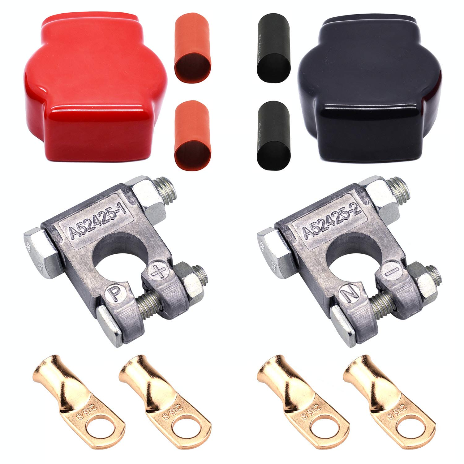 Cllena Military Style Battery Terminal Top Post Kit for Car Auto Truck Rv Camper Marine Boat by Cllena