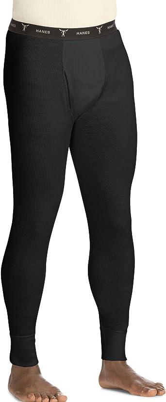 Hanes Mens Beefy Thermal Pant Black 2XL