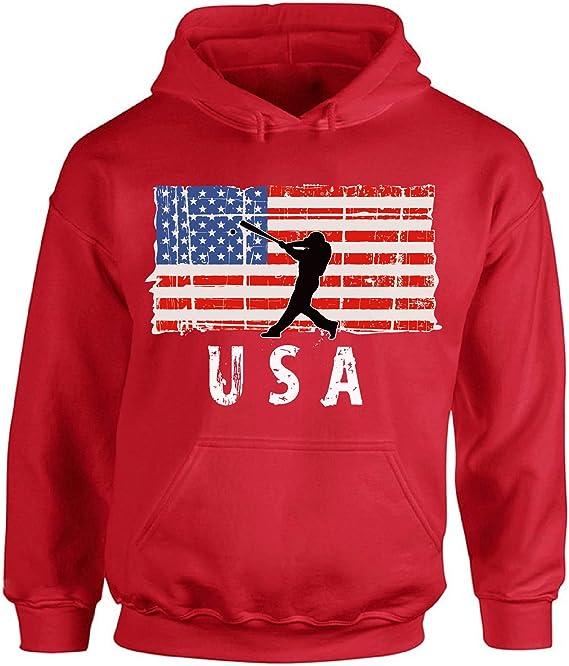 Awkward Styles American Flag MD Medic Hoodie Retro USA Medic Men Women Hooded Sweatshirt Grey 5XL