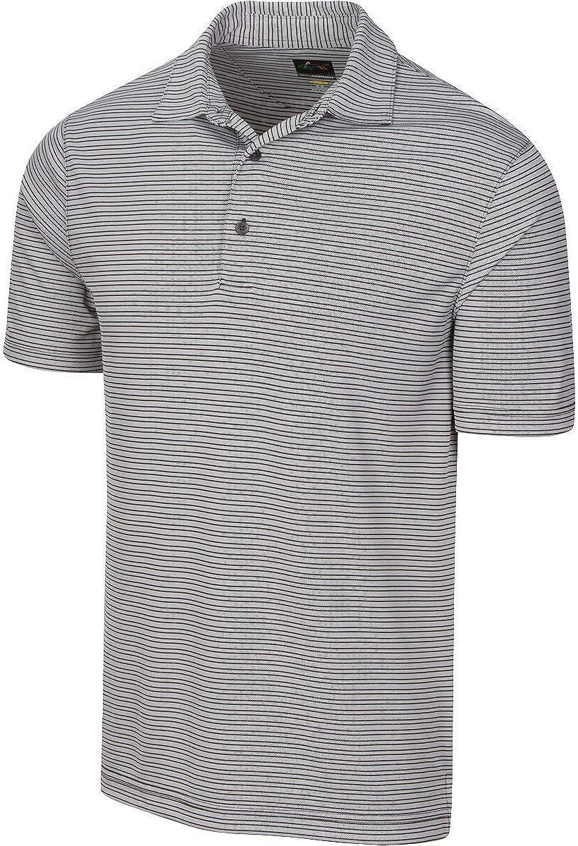 Greg Norman Protek Micro Stripe Polo Short Sleeve
