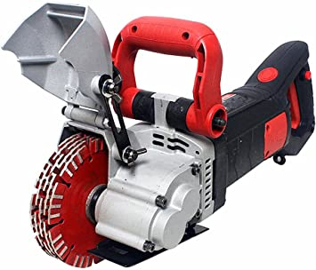 YUCHENGTECH 2500W Floor Wall Groove Cutting Machine Wall Groove Slotting Machine Electric Brick Wall Chaser For Brick Granite Marble Concrete Cutter Notcher groover 220V - - Amazon.com