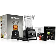 Vitamix A2300 Ascent Series Blender with 64-Ounce Container + Vitamix Simply Blending Blending Recipe Cookbook + Low-Profile Tamper + 10-Year Full Warranty - Black