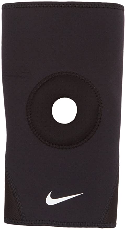 01d43edc45 Amazon.com: Nike PRO Combat Open-Patella Knee Sleeve 2.0 (Small, Black/White):  Sports & Outdoors