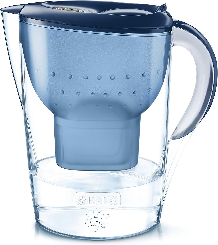 BRITA Marella XL – Jarra de Agua Filtrada con 1 cartucho MAXTRA+ – Filtro de agua BRITA de color azul que reduce la cal y el cloro – Agua filtrada para un