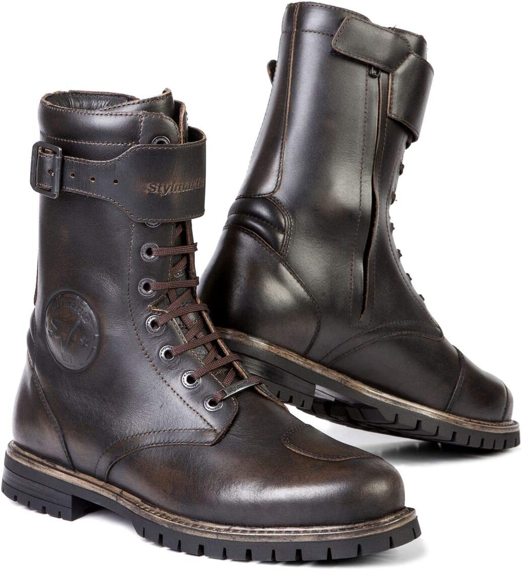 Brown, Size: US-7, EU-39 Stylmartin Mens Rocket Caf/è Racer Motorcycle Boots