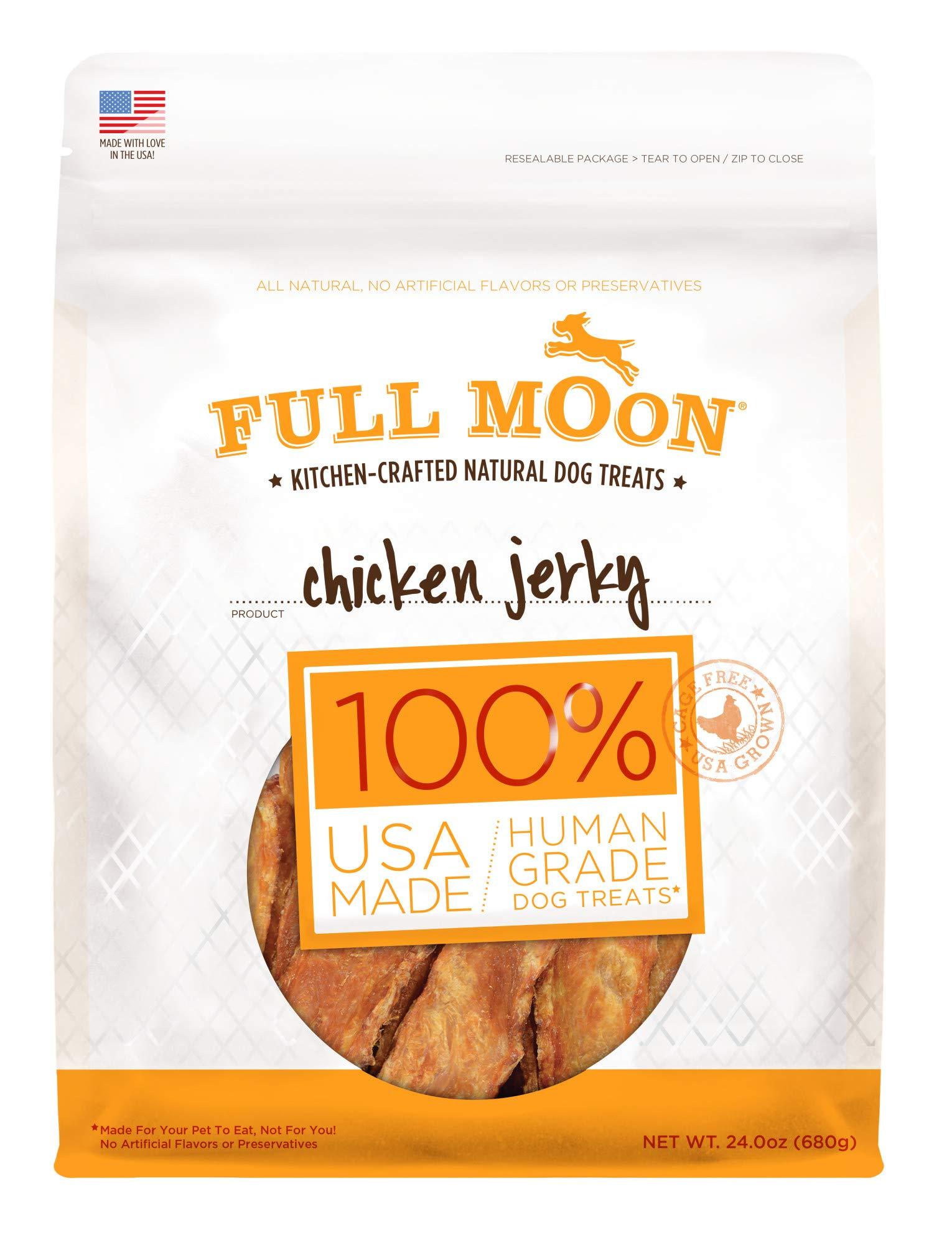 Full Moon All Natural Human Grade Dog Treats, Chicken Jerky, 24 Ounce by Full Moon