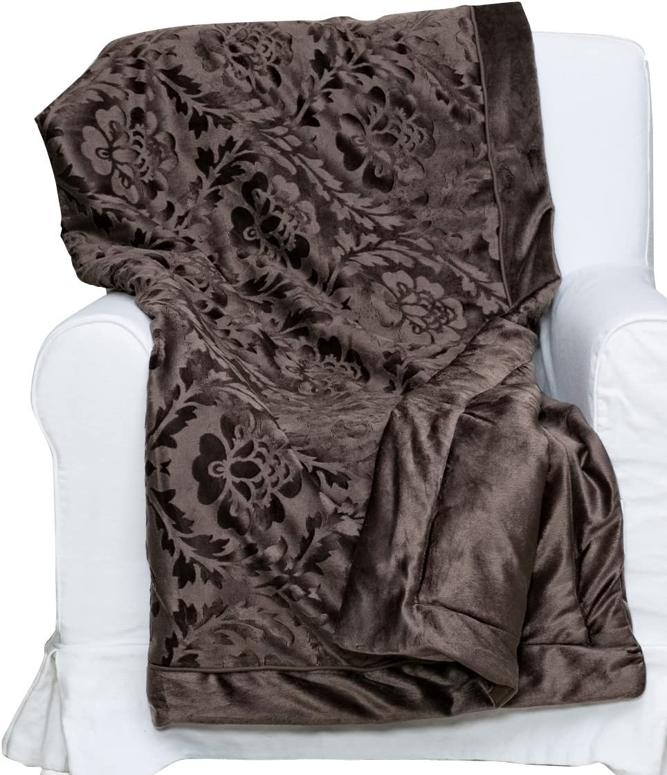 S.L. Home Fashions TPE-7110 Penelope Throw, Chocolate, 10-Pack