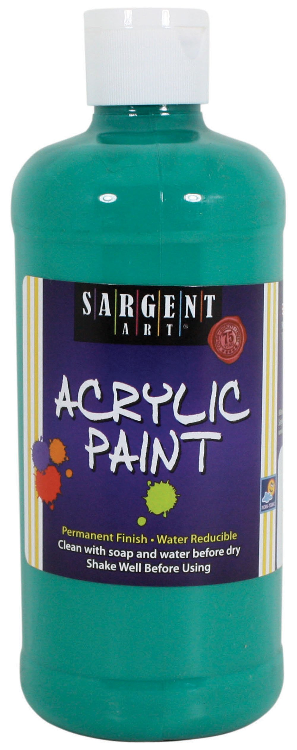 Sargent Art 24-2474 16-Ounce Acrylic Paint, Phthalo Green