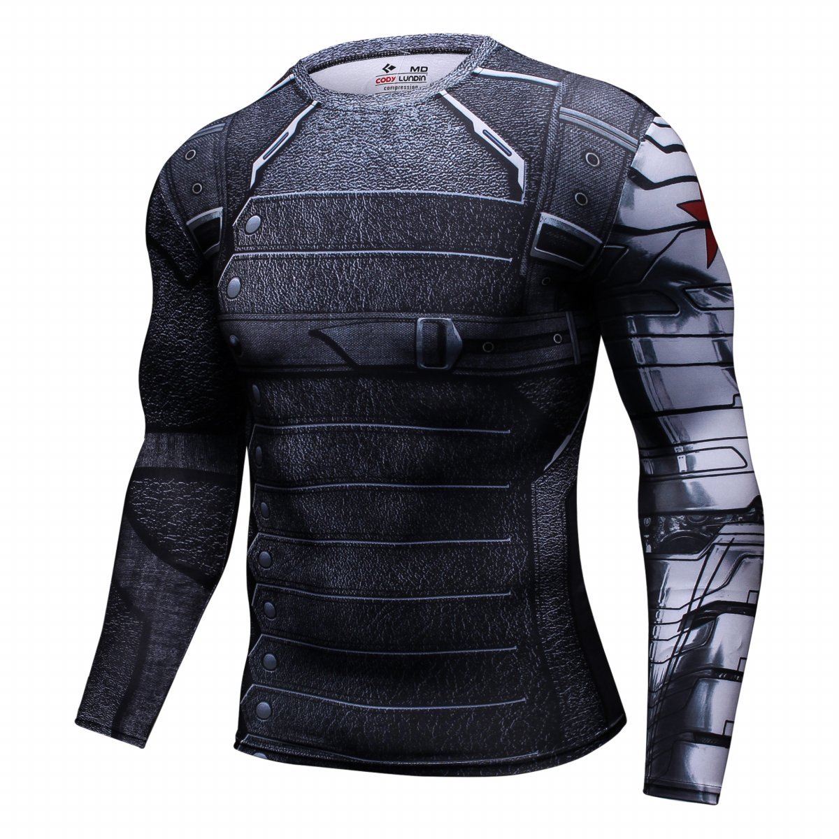 Cody Lundin® Men's Compression Workout Top Winter Warrior Cosplay Long  Sleeve Sport Tight Shirt