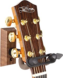 String Swing Guitar Wall Mount Hanger with Keeper Strap- Electric Acoustic and Bass Guitars CC01K-BW