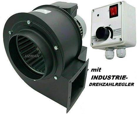 Uzman-Versand OBR-200M - Ventilador radial con 400 W de velocidad ...