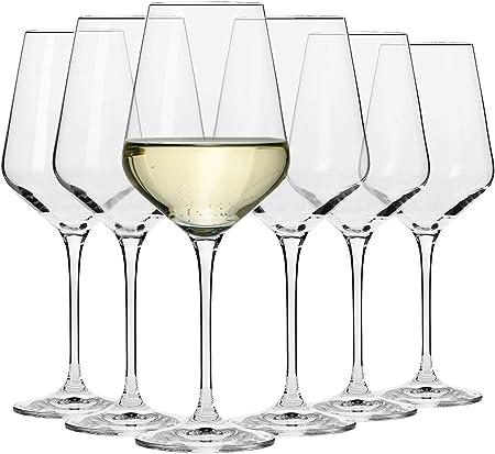 Krosno Copas de Vino Blanco | Conjunto 6 Piezas | 390 ML | Avant-Garde Collection Uso en Casa, Restaurante y en Fiestas | Apto para Microondas y Lavavajillas
