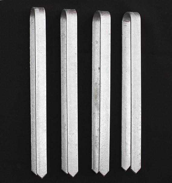 DanDiBo 4 unidades anclajes para Rose arco 30 cm galvanizado ...