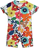 CharmLeaks Baby Boys Girls One Piece Zip Rash Guard UV Protection Swimsuit Sunsuit