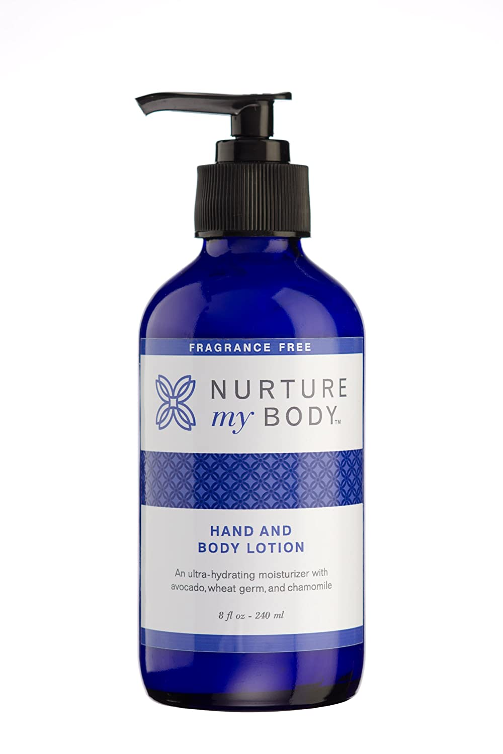 Nurture My Body All-Natural Hand & Body Lotion, Fragrance Free, 8 fl oz. - Certified Organic Ingredients