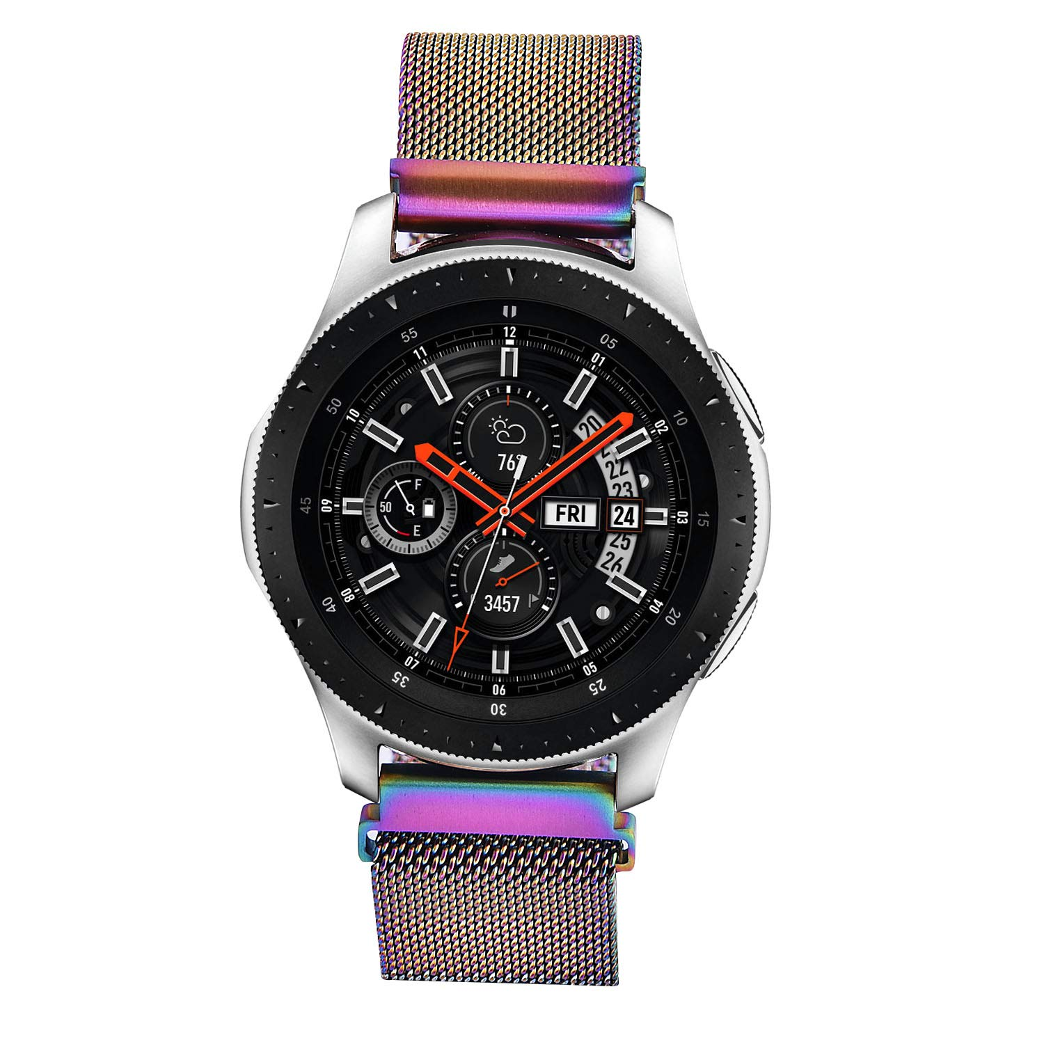 V-MORO Band Compatible with Gear S3 Frontier/Galaxy Watch 46mm Bands Stainless Steel Metal Bracelet mesh Strap for Gear S3 Smartwatch/Galaxy Watch ...