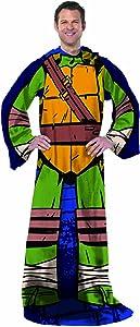 """Nickelodeon's Teenage Mutant Ninja Turtles, """"Being Leo"""" Adult Comfy Throw Blanket with Sleeves, 48"""" x 71"""", Multi Color"""
